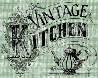 Popular items for vintage kitchen sign on Etsy