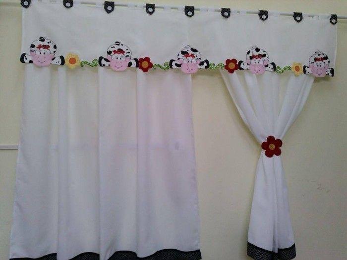 Cortinas para cozinha pinturas pinterest cortinas for Cortinas para aulas