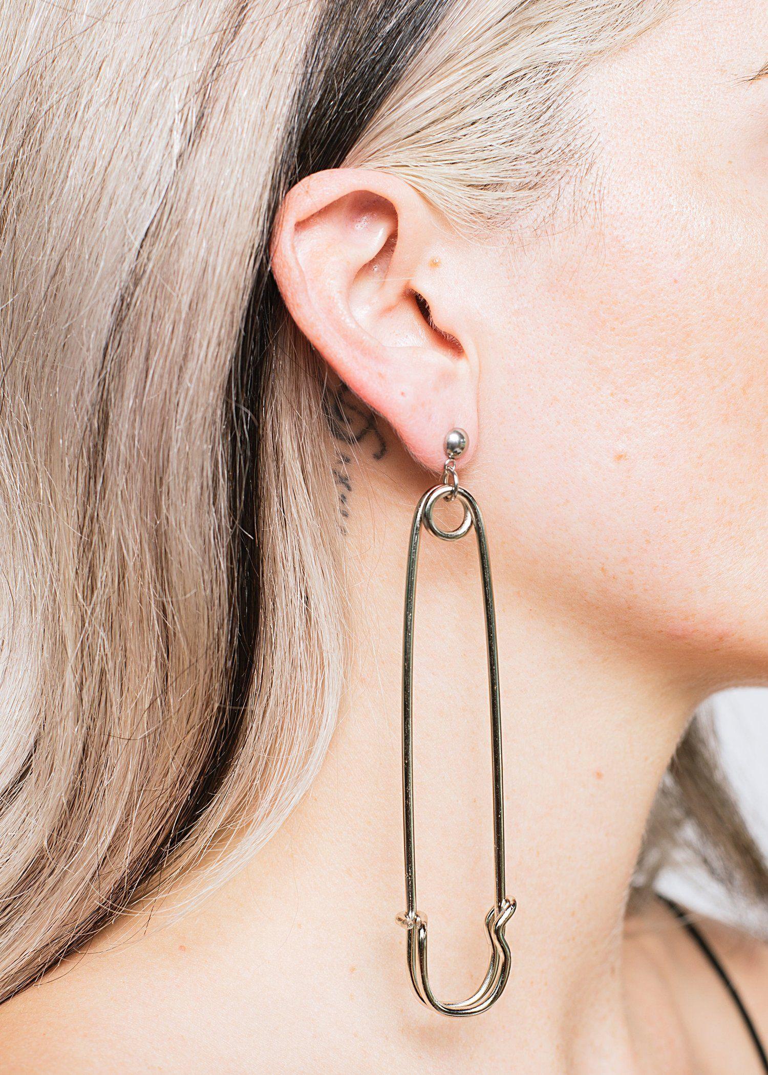 Gjonaj P Shopdalmata Ecom 153 Jpg Safety Pin Earrings Earrings Safety Pin