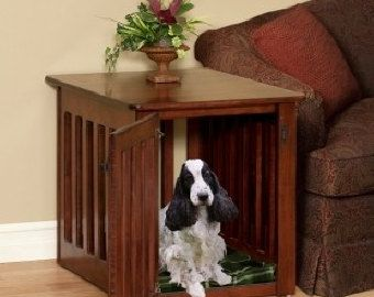 Nice Wooden Dog Crate End Table Chew Proof Puppy Solid от Pinnaclewc