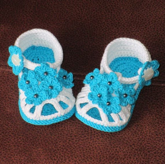 Crochet baby shoes,Crochet baby sandals,Crochet baby booties,Crochet ...