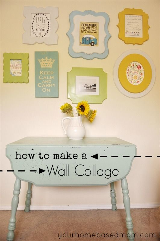 How to Make a Wall Collage | Wall collage, Collage and Walls