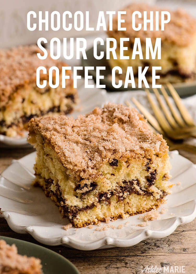 Sour Cream Coffee Cake With Chocolate Chips Sour Cream Recipes Sour Cream Coffee Cake Chocolate Chip Coffee Cake Recipe