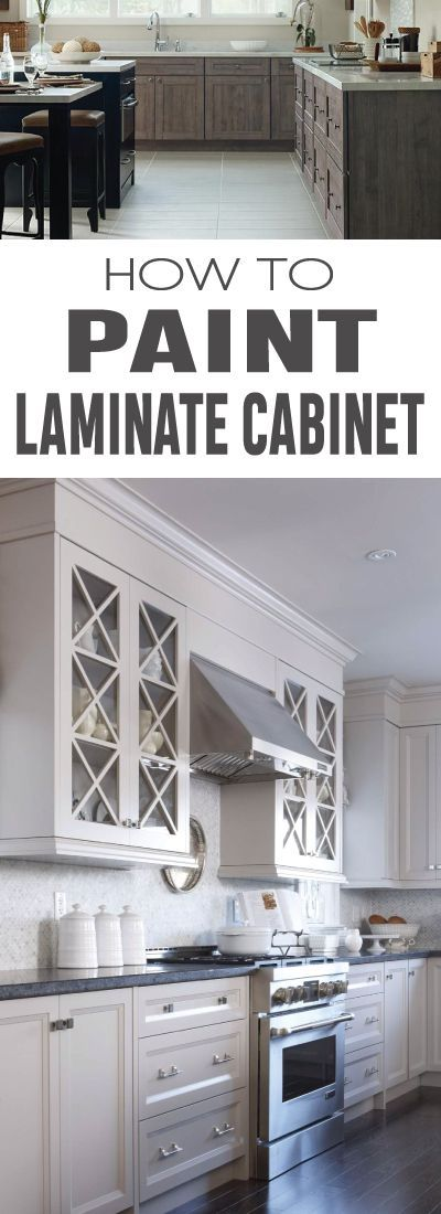 How to Paint Laminate Cabinets | Painting laminate ...