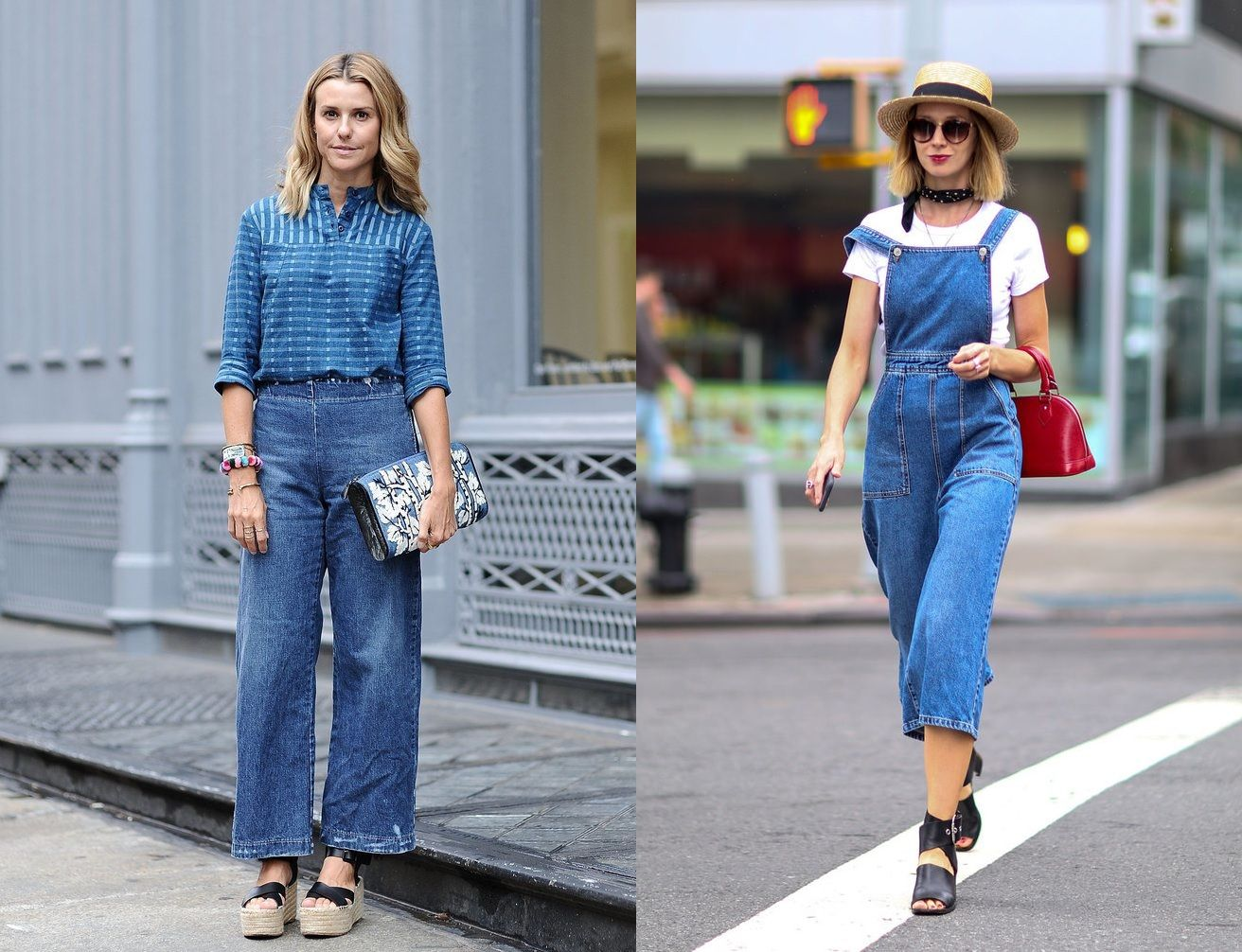 Nyfw Spring 2016 Street Style Vegan Fashion New York Fashion Week Spring 2016 70s Denim