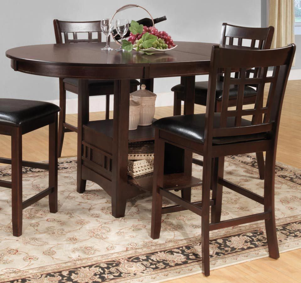 Bar height square kitchen table  Homelegance Junipero Counter Height Table counterheighttable