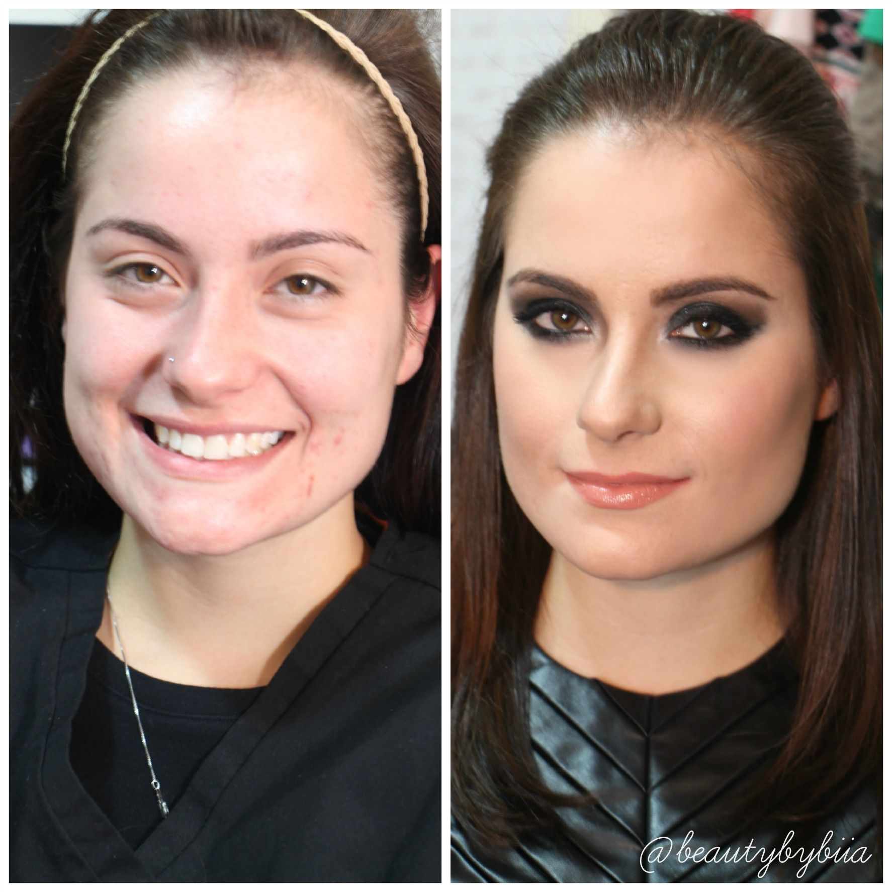 Before After Black Smokey Eyes Makeup Black Smokey Eye Makeup
