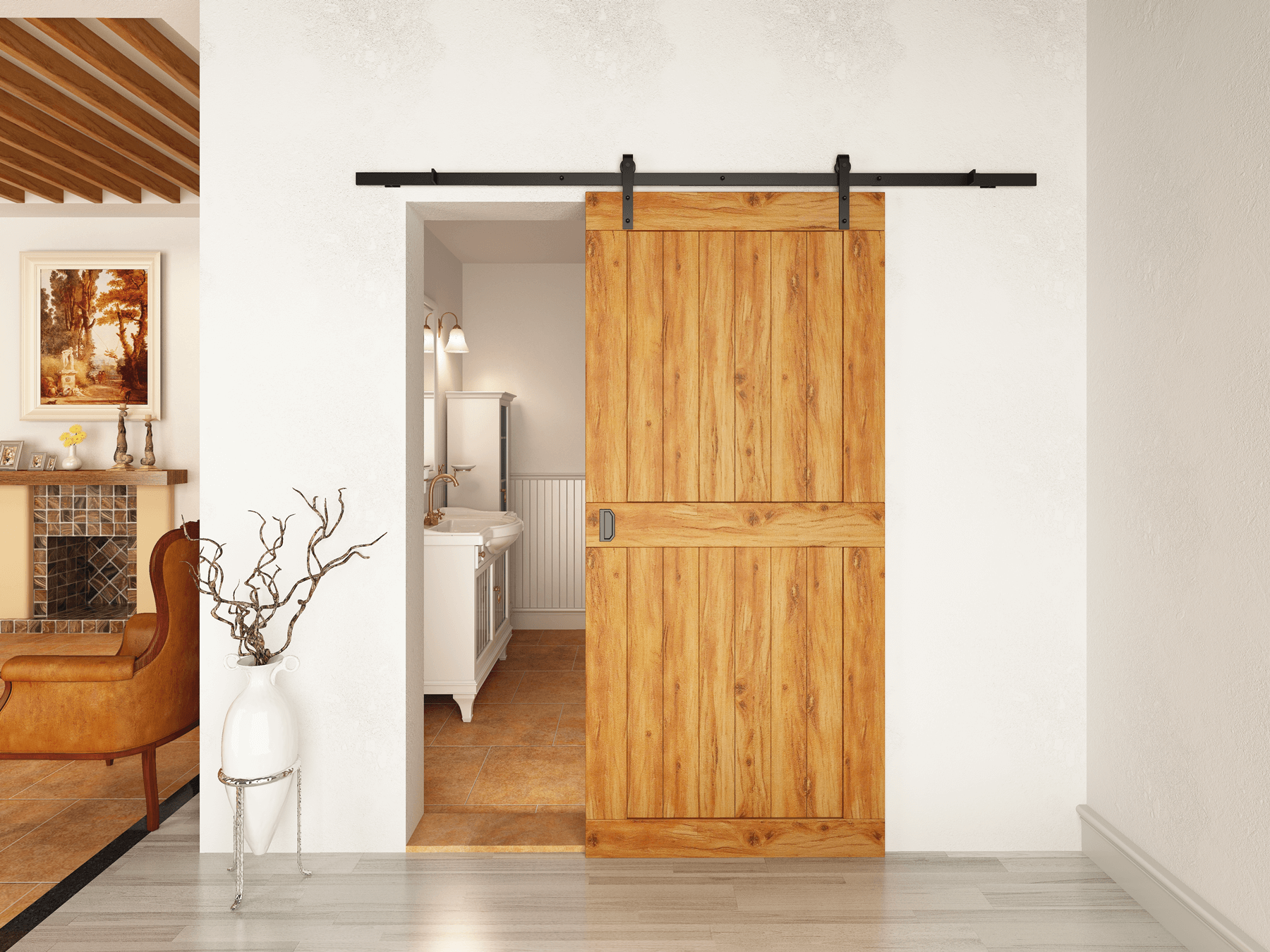 Unique sliding door hardware with beautifully crafted barn style hangers for doors weighing up to Rustic 80 sliding hardware is ideal for barn conversions