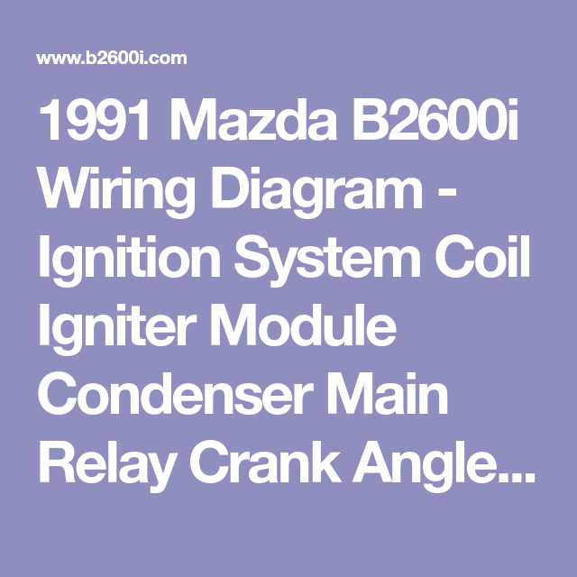 1991 mazda b2600i wiring diagram ignition system coil igniter automatic transmission wiring diagram 1991 mazda b2600i wiring diagram ignition system coil igniter module condenser main relay crank angle