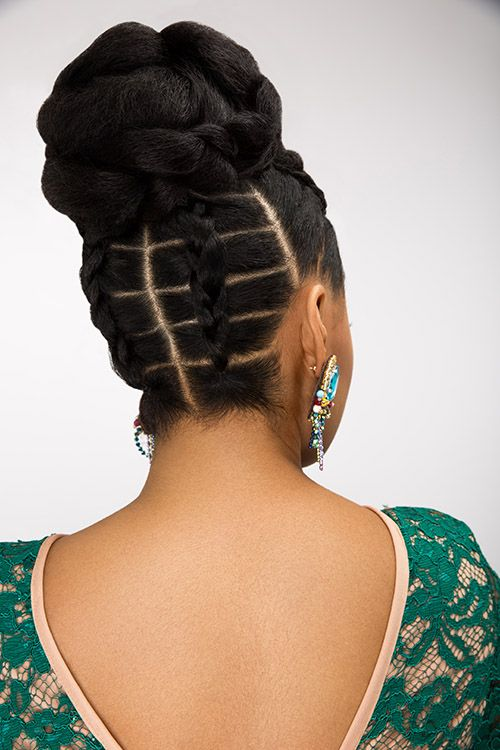 The Essence To Dionne Smith S Bridal Updos Are Intricate Partings And Stylised Braids Natural Hair Styles African Braids Hairstyles Braided Hairstyles
