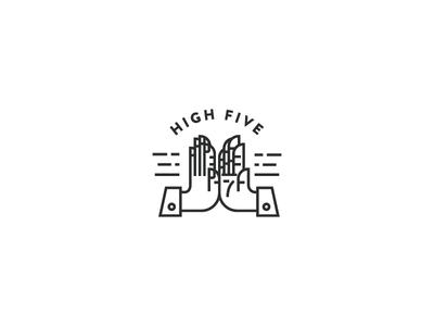 High Five Typography Logo Inspiration High Five Logomark Design