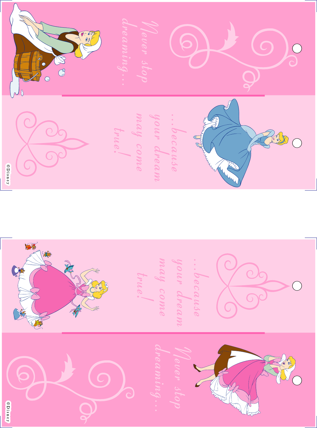 Valentine bookmark to color - Disney Printable Bookmarks