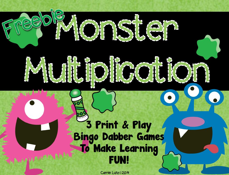 Free Bingo Dabber Multiplication Games