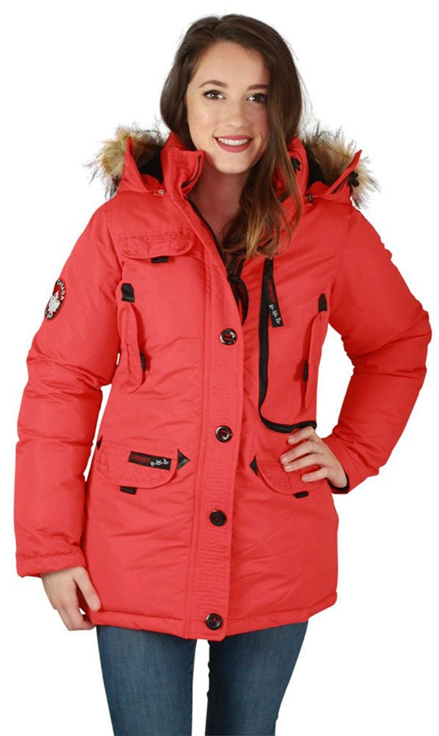 Canada Weather Gear Women S Parka Faux Down Goose Jacket Coat Details Can Be Found By Clicking On The Image Jackets Womens Parka Leather Jacket [ 1500 x 896 Pixel ]
