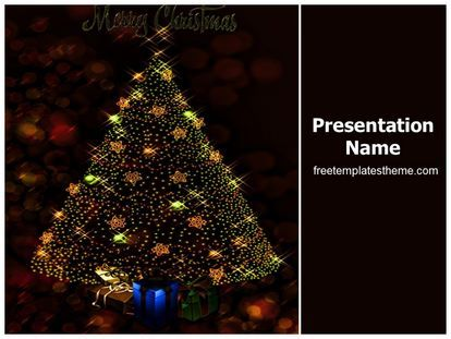 Get This Free Merry Christmas Powerpoint Template With