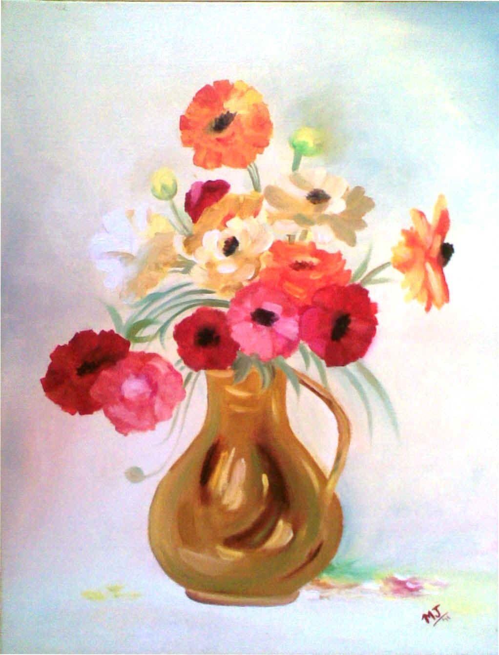 Oil painting flower vase vase pinterest oil painting flowers oil painting flower vase floridaeventfo Images