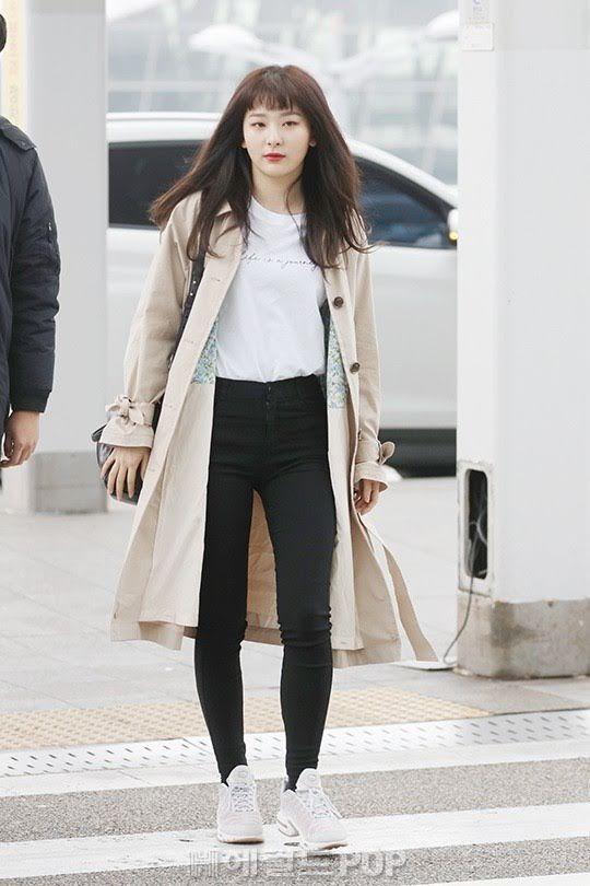 8 Best Female Idol Airport Fashion Outfits Of March 2018 Pakaian Bandara Pakaian Model Model Pakaian Bandara