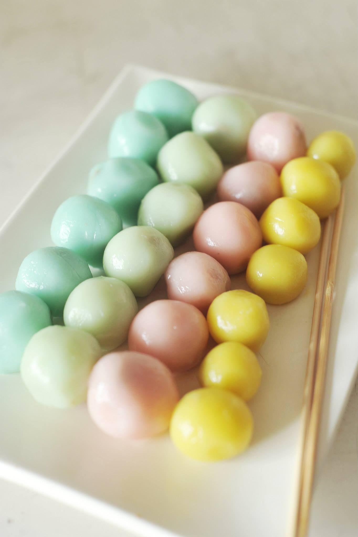 We also trued making japanese dango for dessert ) My