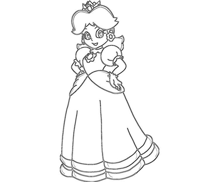 Princess Peach Coloring Pages Printable For Kids Princess Coloring Pages Coloring Pages For Kids Princess Daisy