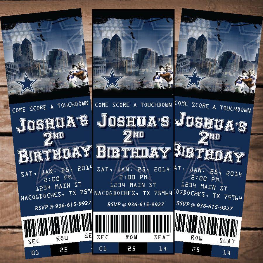 Dallas cowboys nfl custom ticket invitation by kenleighbugdesigns dallas cowboys nfl custom ticket invitation by kenleighbugdesigns 1500 stopboris Choice Image