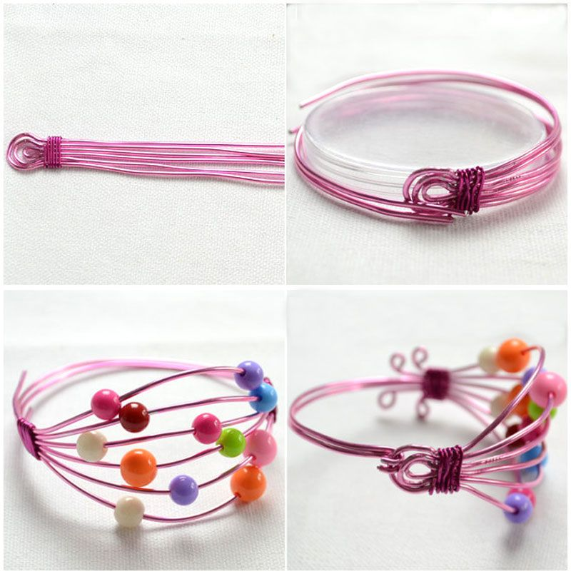 How to Make Wire Bracelet with Beads , jewelry making http://tech ...