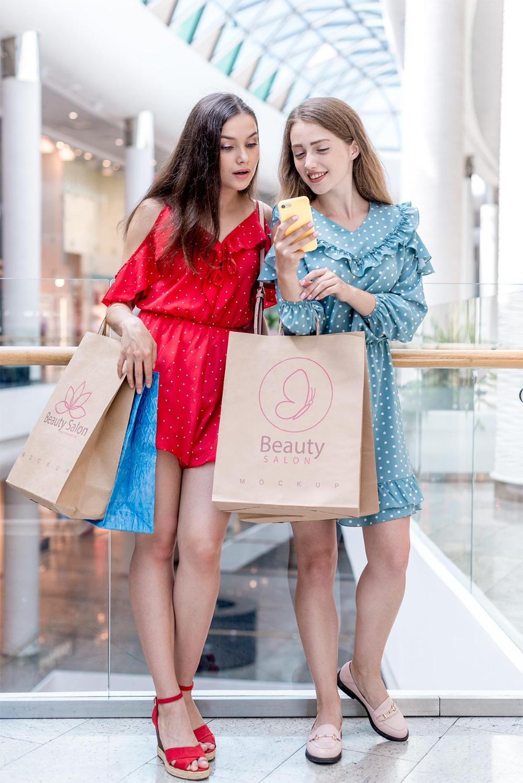 Download Girls Holding Kraft Paper Shopping Bag Mockup Free Psd Good Mockups Bag Mockup Free Design Resources Free Mockup