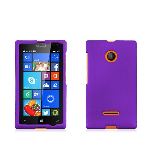 online store 14b2e 44b7e For Nokia Lumia 435 rubber finish purple phone case cover- T-mobile ...