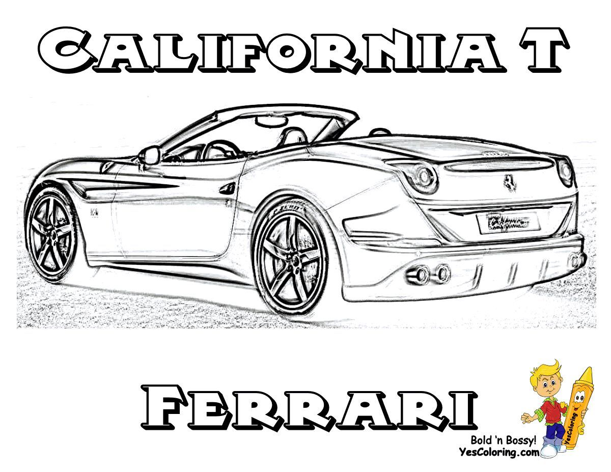 Print Out This Ferrari Coloring Page Of California T Sweet Tell Other Coloring Kids Your Eyeballs Found Yes Cars Coloring Pages Coloring Pages Car Drawings