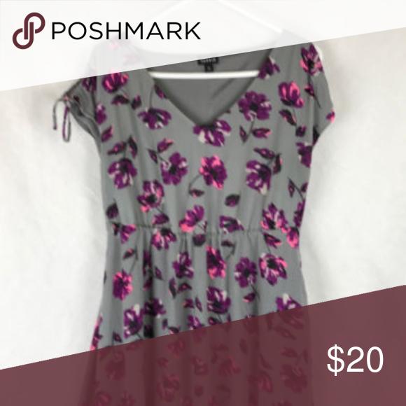 a404612173a Torrid 00 M L 10 Gray Purple Floral Print dress Torrid 00 Womens M