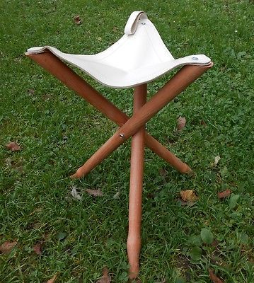 Groovy Details About Wooden Tripod Fishing Hunting Camping Stool Squirreltailoven Fun Painted Chair Ideas Images Squirreltailovenorg