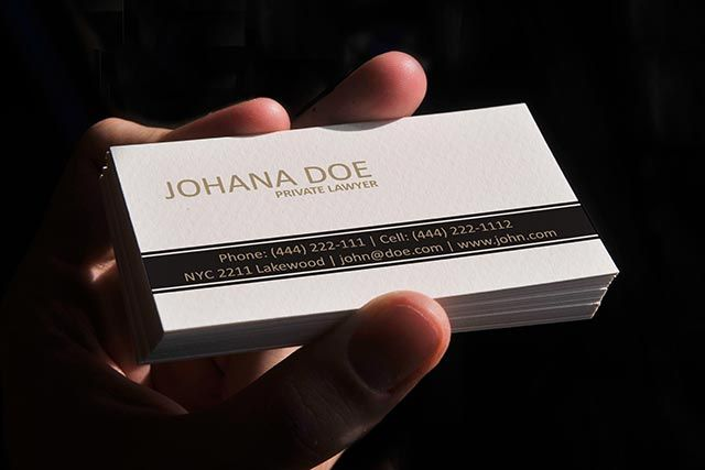 Elegant Lawyer Business Card Template Available For Free Download - Business card design templates free download