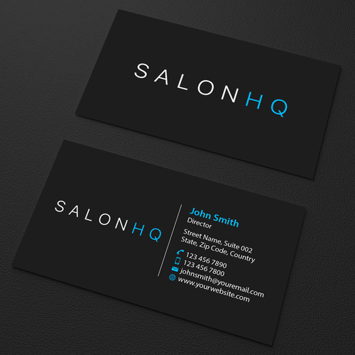 Salonhq App Business Cards Salonhq Is A Mobile Business App Targeting Distributors Owners Consumers Custom Business Cards Business Card Design Spa Marketing