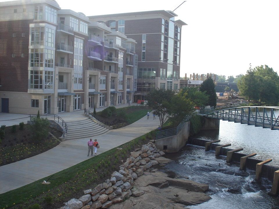 Falls On The Reedy Riverwalk Downtown In Greenville South
