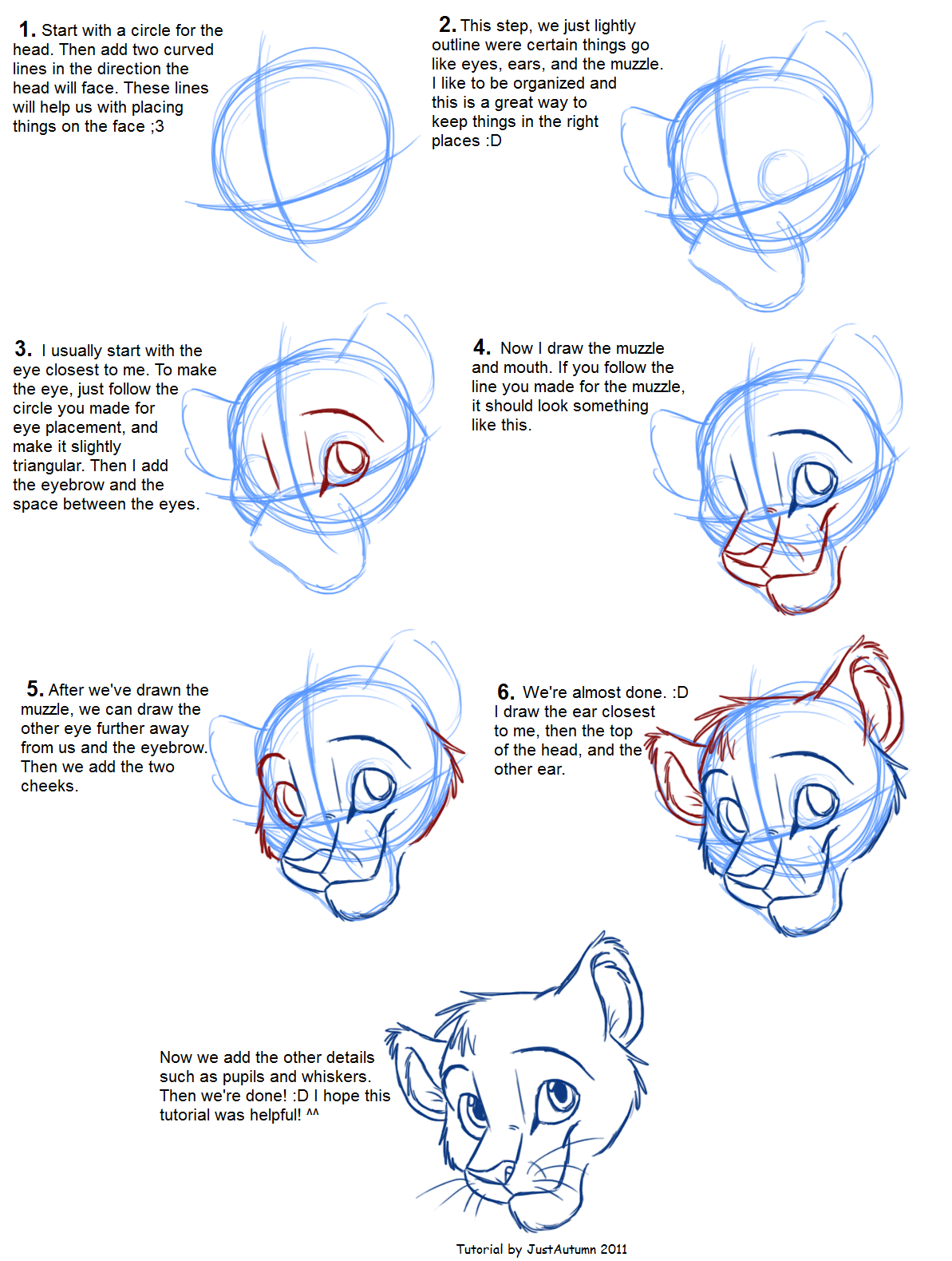 How to draw felines head by justautumn sketch build for Cartoon body tutorial