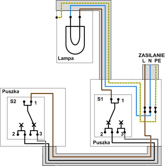 Wylacznik Schodowy Uzupelnienie Elektrykadlakazdego Pl Czyli Domowa Elektryka Bez Tajemnic Electricity Chart Diagram