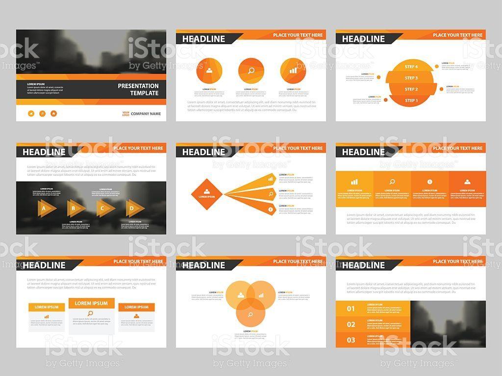 orange abstract presentation templates, infographic elements, Presentation templates