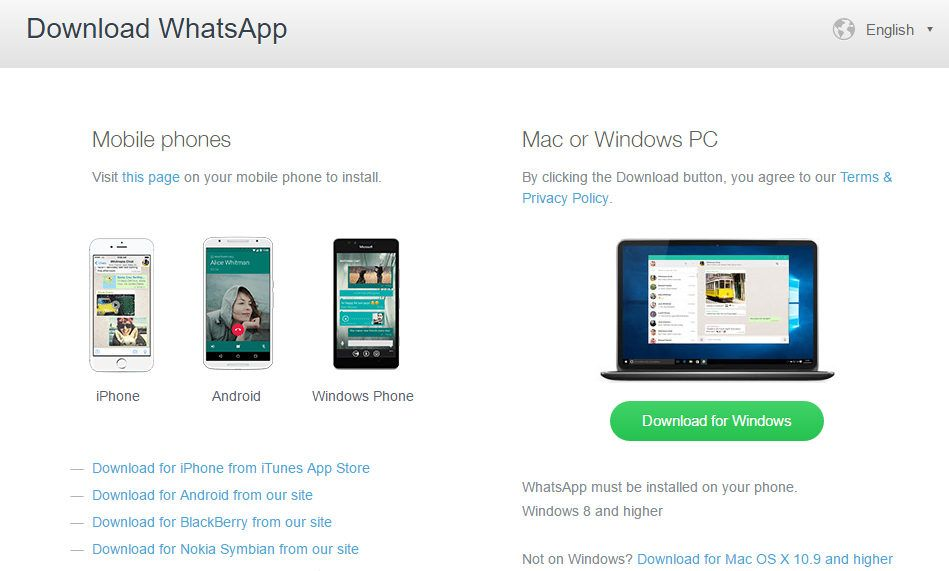 Download WhatsApp for Windows and Mac from official