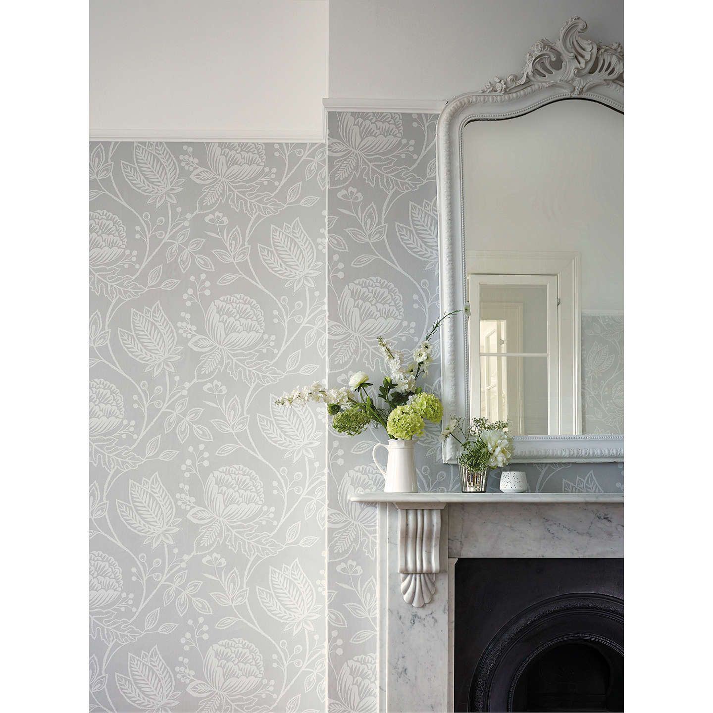 Harlequin Mirabella Wallpaper, Willow, 111196 Grey