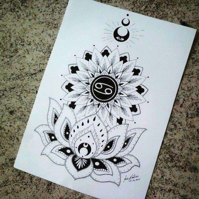 Mulpix Mandala Tattoos Tattoo Sketch Mandaladesign Mandala Blackworkers Inkstagram Zodiac Sign Cancer Tattoo Cancer Zodiac Tattoo Cancer Sign Tattoos