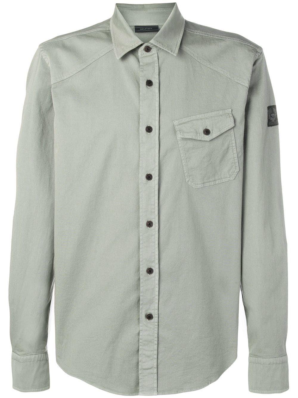 c83ff4a12f BELSTAFF BELSTAFF ANGLED POCKET SHIRT - GREEN.  belstaff  cloth ...