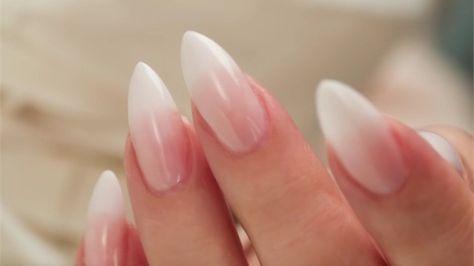 French Fade | Almond acrylic nails, Nail nail and Prom nails