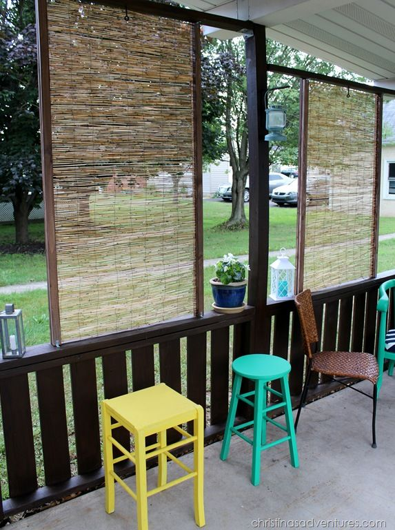 Diy bamboo privacy screen outdoor privacy screens and for Townhouse deck privacy ideas