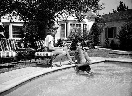 Humphrey Bogart and Lauren Bacall at their Benedict Canyon