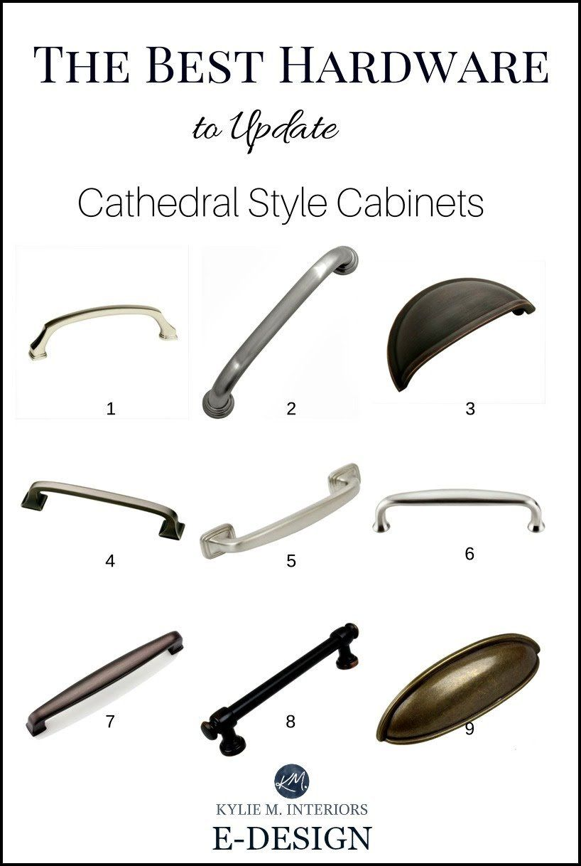 The Best Cabinet Hardware Pulls To Update Cathedral Style Oak Cabinets In Kitchen Kylie M Interiors E De Kitchen Hardware Oak Cabinets Wood Kitchen Cabinets