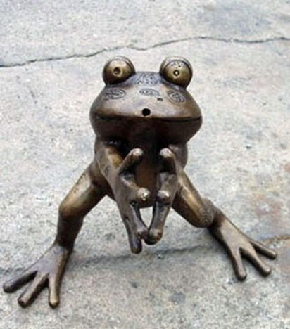Metal Frog Decorative Art 13/""
