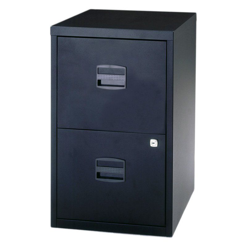 Bisley Two Drawer Home File Cabinet Black Filing Cabinet Cabinet Steel Storage Cabinets