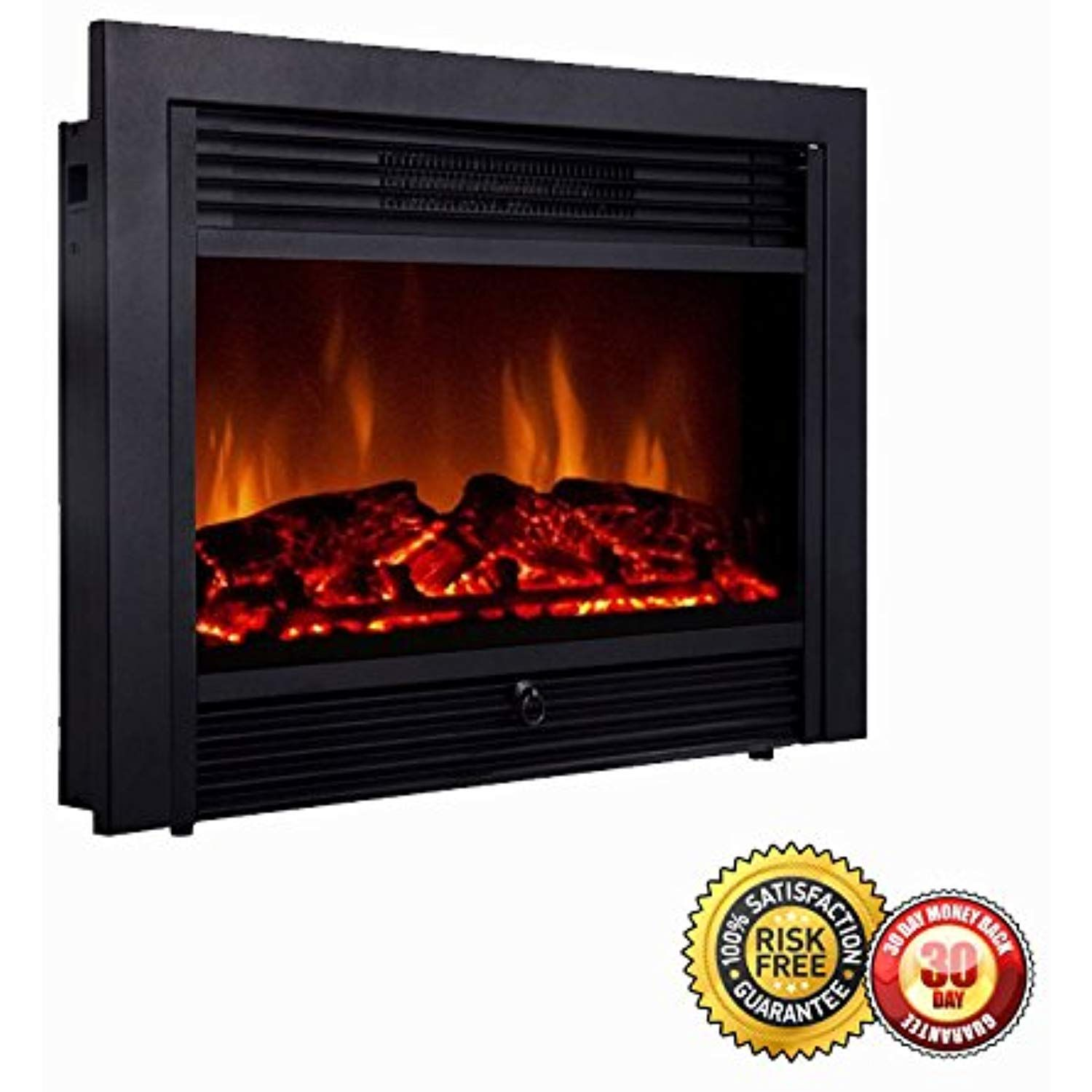 New 28 5 Embedded Fireplace Electric Insert Heater Glass View Log