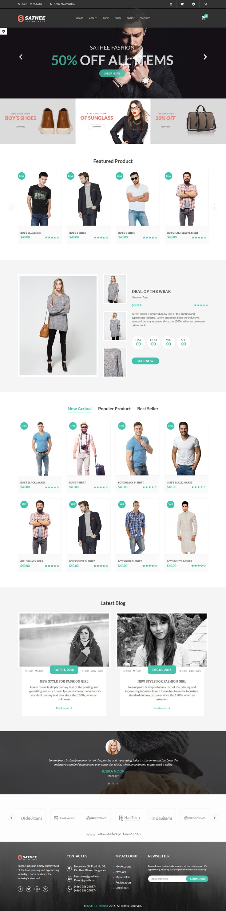 Sathee is beautifully design responsive 2in1 HTML #Bootstrap ...
