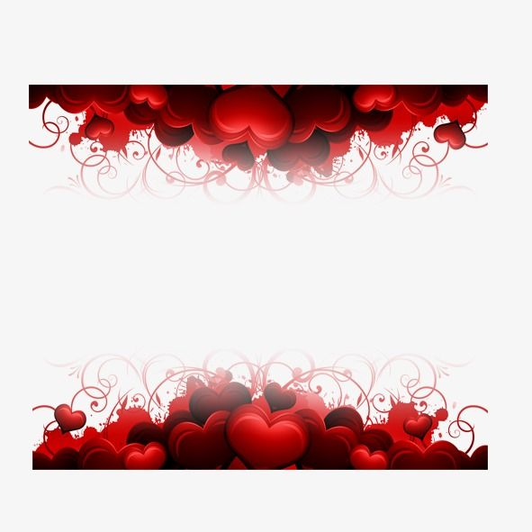 Hearts Border Heart Border Scrapbook Background Valentines Day Background
