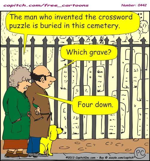Weird Little Fact About Crosswords And Graveyards Death Free Cartoons School Work